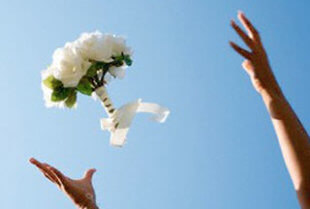 bouquet toss floral meaning