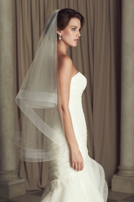 fingertip length wedding veil