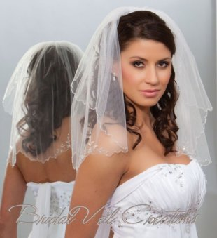 shoulder wedding veil