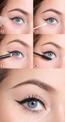 winged liner tutorial babydoll weddings
